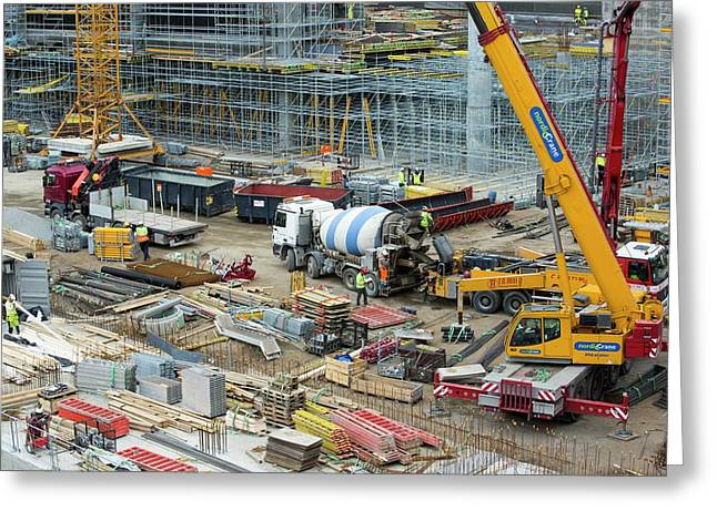 Expansion Work At Oslo Airport In Norway Greeting Card by Ashley Cooper