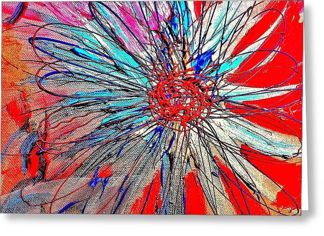 Design Pics Mixed Media Greeting Cards - Explosion of Ni Greeting Card by Nicoleta Oprescu
