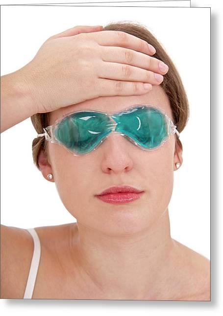 Eye Gel Mask Greeting Card by Lea Paterson