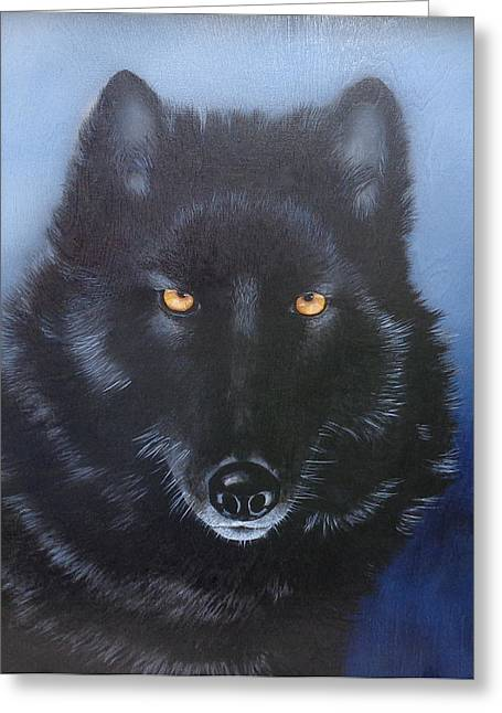 Joe Lisowski Greeting Cards - Eyes of the Wolf Greeting Card by Joe Lisowski