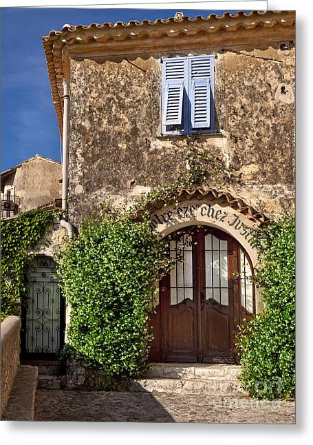 French Doors Greeting Cards - Eze France Greeting Card by Brian Jannsen