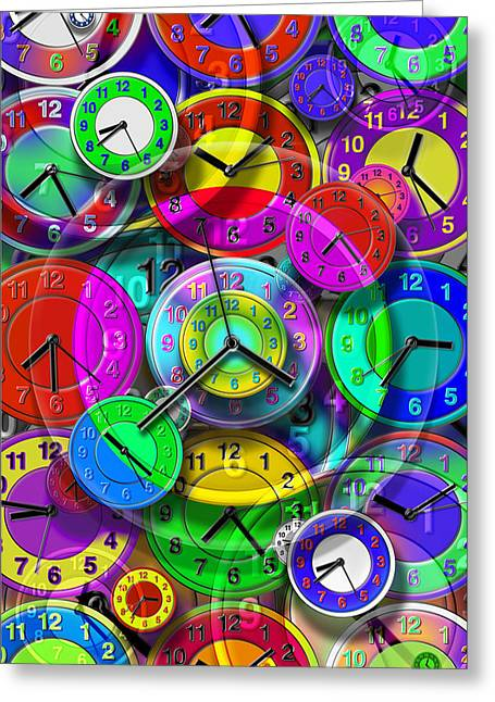 Timepieces Greeting Cards - Faces of Time 1 Greeting Card by Mike McGlothlen