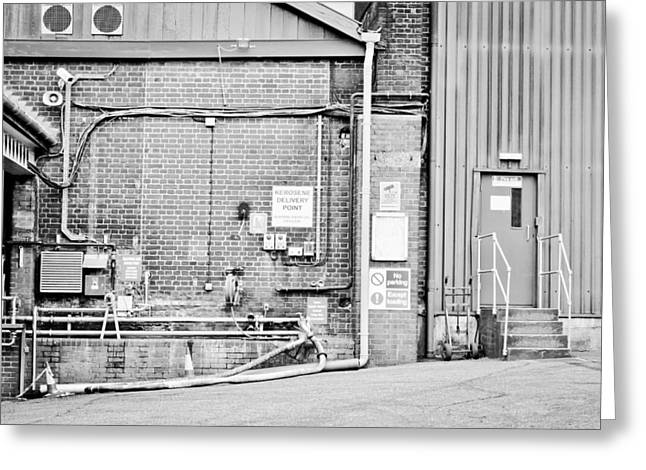 Workplace Photographs Greeting Cards - Factory Greeting Card by Tom Gowanlock