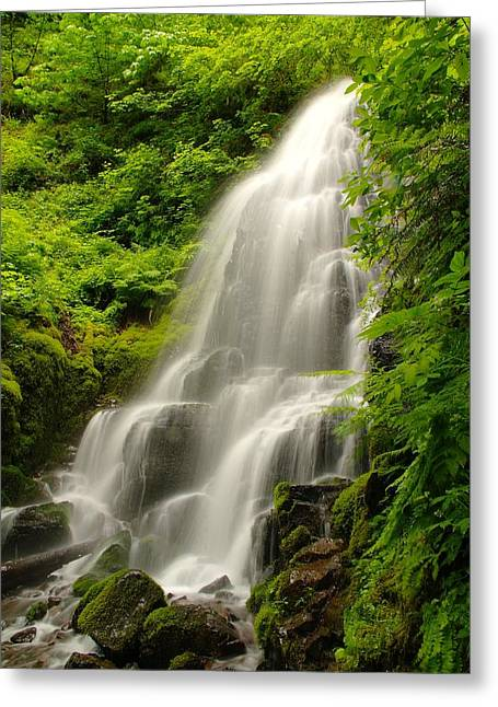 Solace Greeting Cards - Fairy Falls Greeting Card by Jeff  Swan