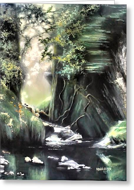 Argent Greeting Cards - Fairy Glen Greeting Card by Melissa Herrin