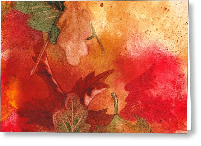 Fall Impressions Greeting Card by Irina Sztukowski