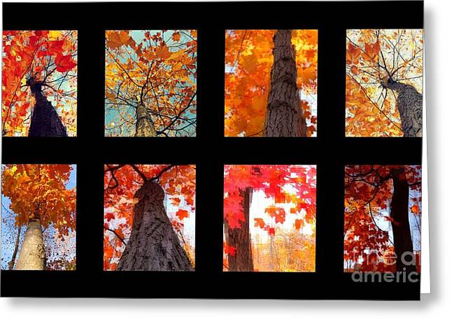 Beige Abstract Greeting Cards - Fall series 19 Greeting Card by France Laliberte