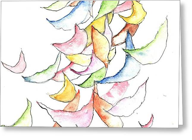 Falling Into Place Greeting Card by Sherry Harradence