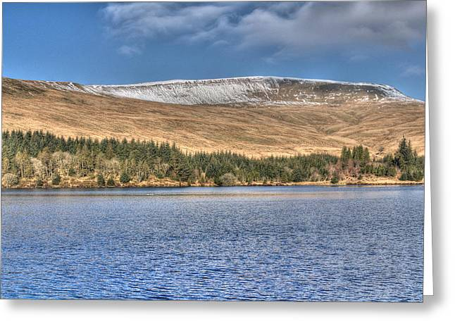 Waterscapes Of Wales Greeting Cards - Fan Fawr and Beacons Reservoir Greeting Card by Steve Purnell