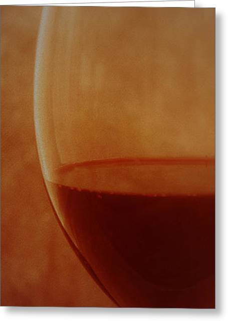 Glass Wall Greeting Cards - Fancy Red Wine Greeting Card by Peter Gau