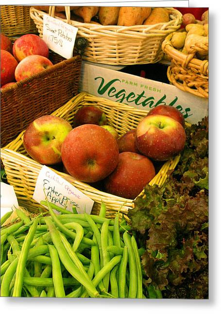 Local Food Greeting Cards - Farmers Market Greeting Card by Jean Hall