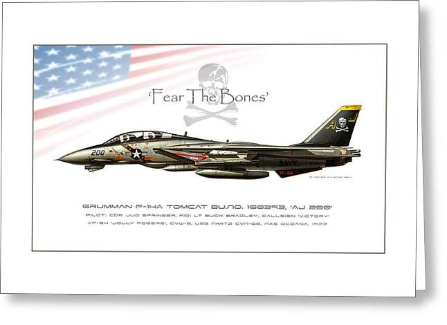 Wwi Digital Art Greeting Cards - Fear The Bones Greeting Card by Peter Van Stigt