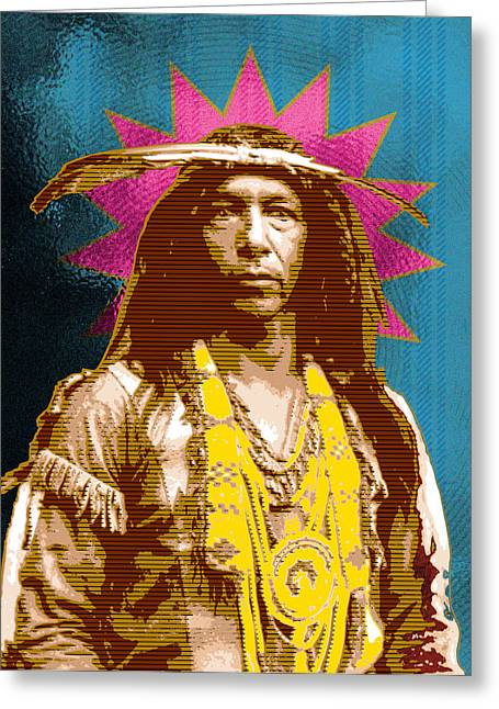 American Indians Greeting Cards - Feather Maker Greeting Card by Gary Grayson