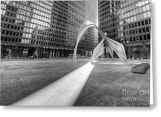 Picaso Greeting Cards - Federal Plaza  Greeting Card by Twenty Two North Photography
