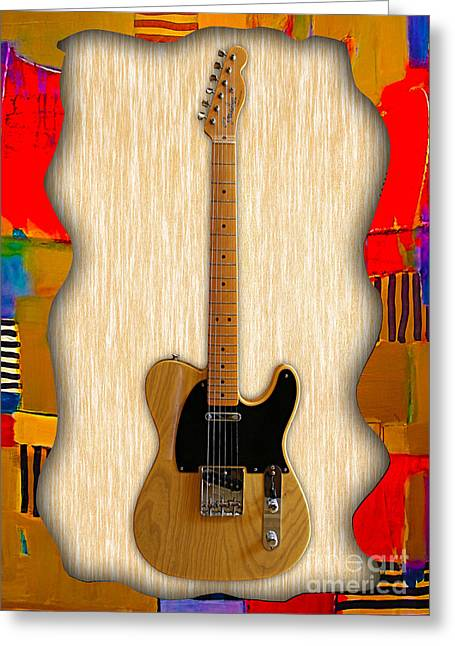 Instruments Greeting Cards - Fender Telecaster Collection Greeting Card by Marvin Blaine