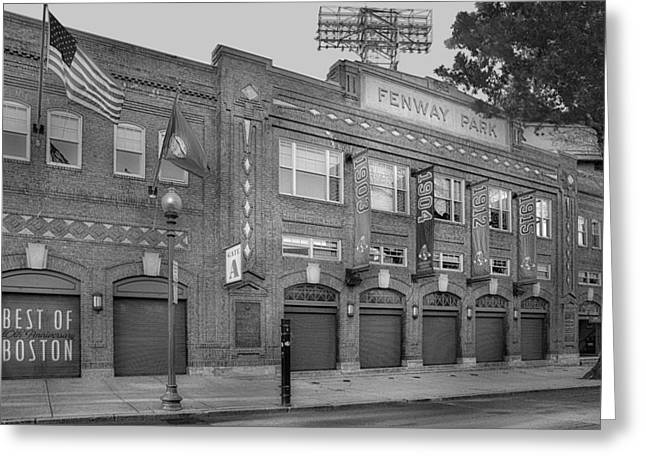 Recreation Building Greeting Cards - Fenway Park - Best Of Boston Greeting Card by Susan Candelario