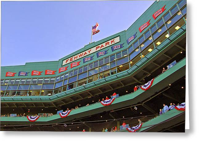 Boston Sports Greeting Cards - Fenways 100th Greeting Card by Joann Vitali