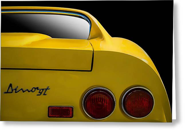 Classic Digital Greeting Cards - Ferrari Dino Greeting Card by Douglas Pittman