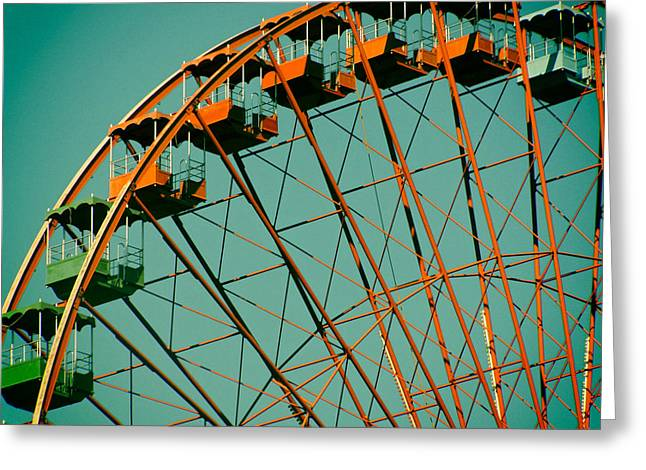Analog Greeting Cards - Ferris Wheel Greeting Card by Fre Sonneveld