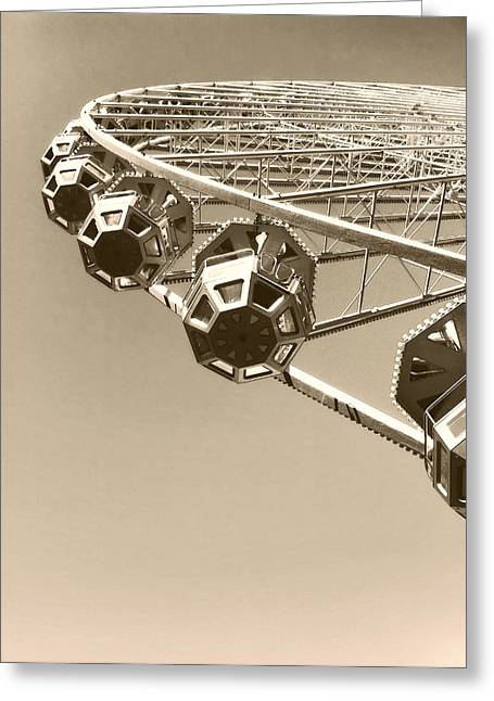 Lyon Greeting Cards - Ferris Wheel in Lyon France Greeting Card by Guenaelle Steinberger