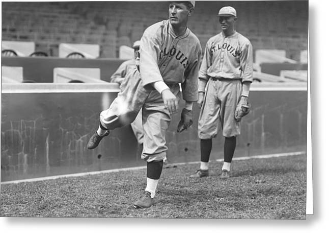 Fielder Greeting Cards - Fielder A. Jones Greeting Card by Retro Images Archive