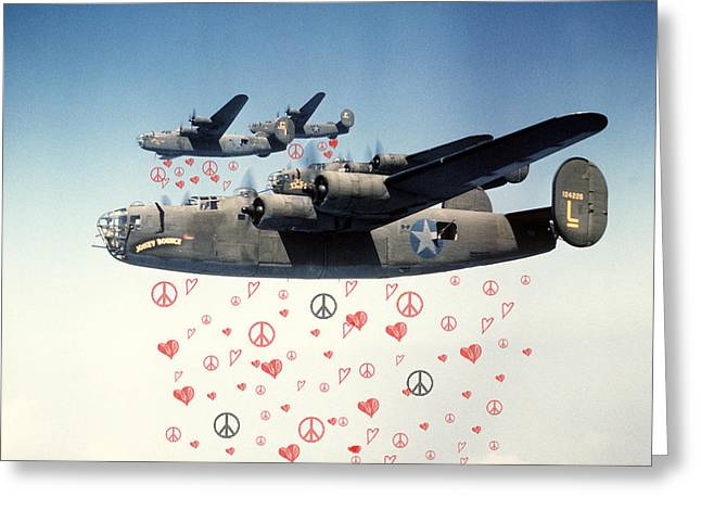 Forgiveness Greeting Cards - Fighting for Peace and Love Greeting Card by Celestial Images