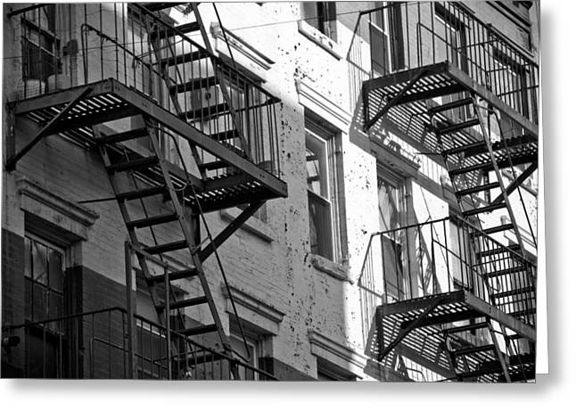 Darren Greeting Cards - Fire Escape Greeting Card by Newyorkcitypics Bring your memories home