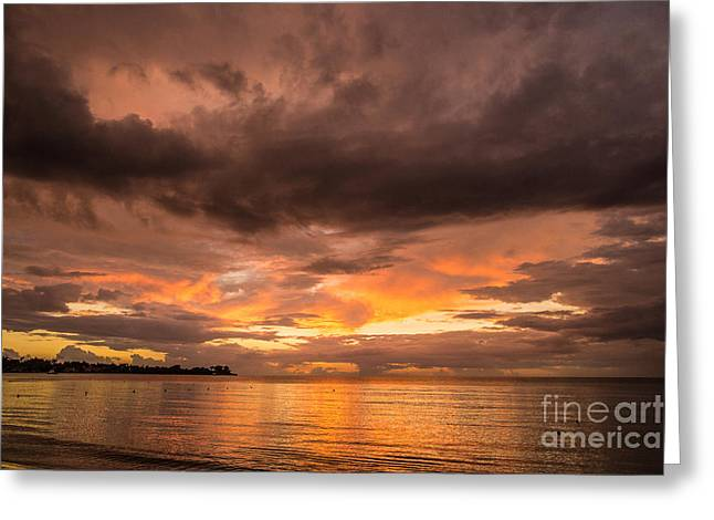 Fire In The Sky Greeting Card by Chuck Alaimo