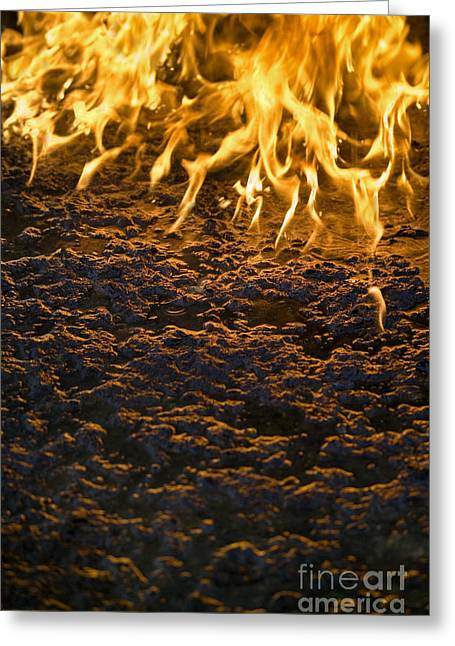 Engulfing Greeting Cards - Fire Greeting Card by Paul Rapson