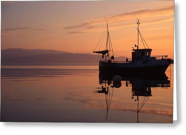 North Sea Greeting Cards - Fishing Boat In Norway Greeting Card by IB Photo