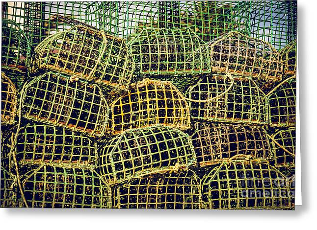 Mesh Greeting Cards - Fishing Traps Greeting Card by Carlos Caetano