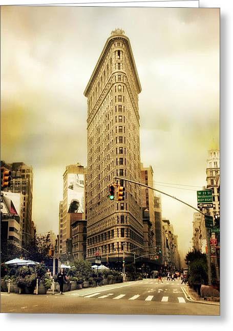 Flatiron Building Greeting Cards - Flatiron Crossing Greeting Card by Jessica Jenney