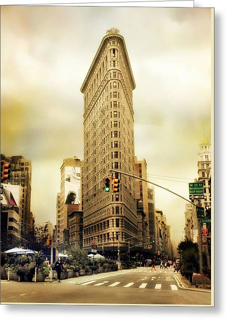 Flatiron Crossing Greeting Card by Jessica Jenney