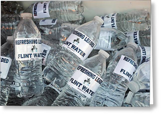 Flint Drinking Water Protest Greeting Card by Jim West