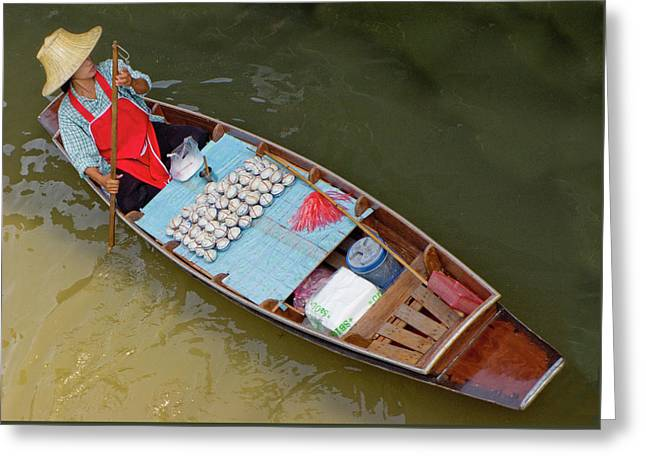 Apron Greeting Cards - Floating to Work Greeting Card by Douglas J Fisher