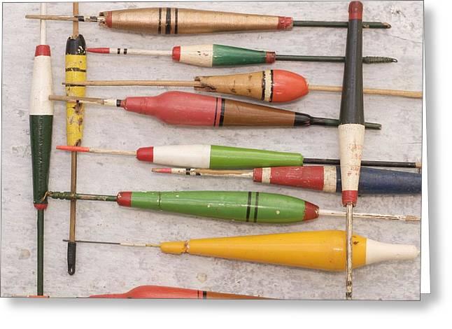 Fishing Rods Photographs Greeting Cards - Floats Greeting Card by Bernard Jaubert