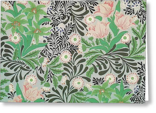 Old Tapestries - Textiles Greeting Cards - Floral Design Greeting Card by William Morris
