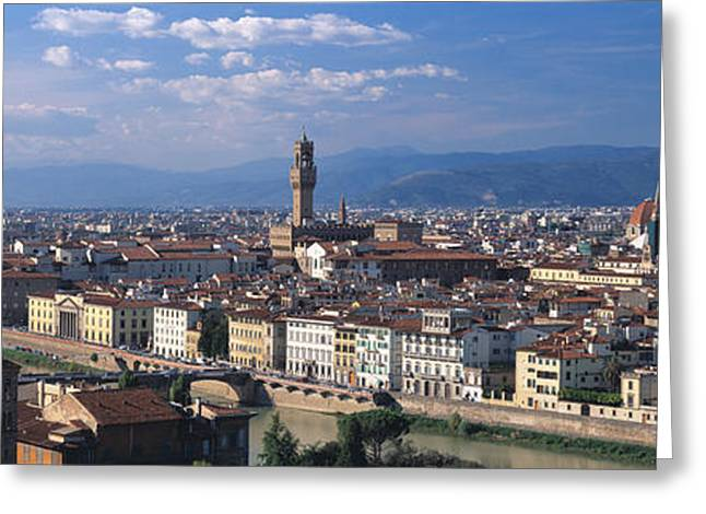 Arno River Greeting Cards - Florence Italy Greeting Card by Panoramic Images