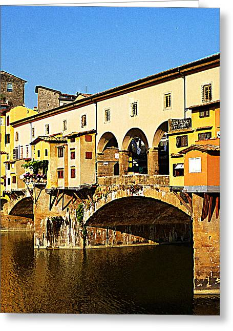 Sketching Greeting Cards - Florence Italy Ponte Vecchio Greeting Card by Irina Sztukowski