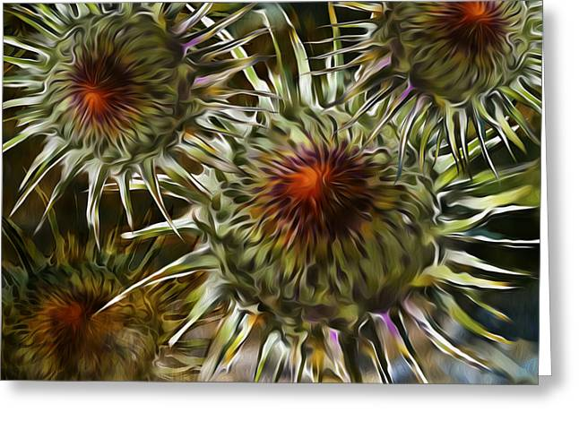 Flower Artwork Greeting Cards - Flower Greeting Card by Nato  Gomes