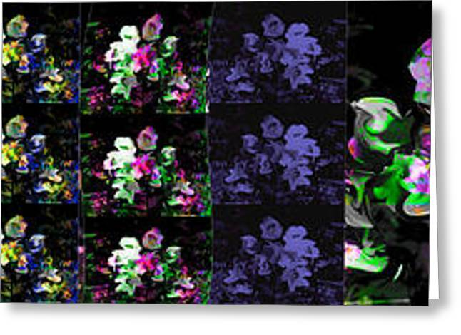 Tn Greeting Cards - Flower Power Greeting Card by EricaMaxine  Price