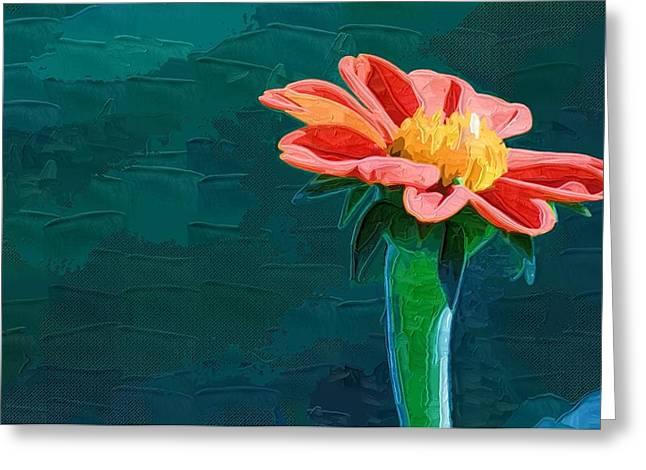 Printables Greeting Cards - Flowers Painting Images Greeting Card by Victor Gladkiy