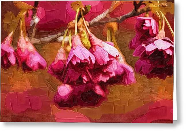 Easter Flowers Paintings Greeting Cards - Flowers Posters Greeting Card by Victor Gladkiy