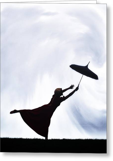 Bizzare Greeting Cards - Flying Away Greeting Card by Joana Kruse