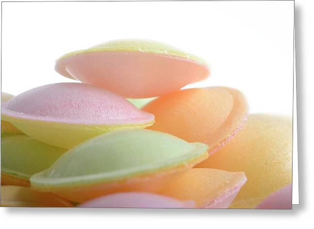 Flying Saucer Sweets Greeting Card by Cordelia Molloy