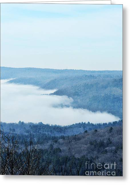 Fog Rising Greeting Cards - Foggy Morning Greeting Card by HD Connelly