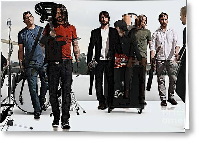 Foo Fighters Greeting Cards - Foo Fighters Greeting Card by Marvin Blaine