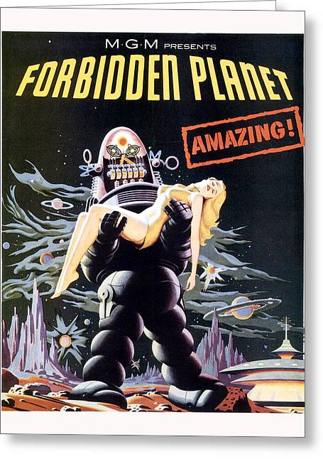 1950 Movies Greeting Cards - Forbidden Planet  Greeting Card by Silver Screen