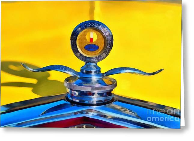 Car Mascot Paintings Greeting Cards - 1930 Ford Model A Coupe Greeting Card by George Atsametakis