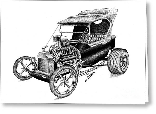 Valuable Drawings Greeting Cards - Ford T Hot Rod Fantasy Greeting Card by Joker  Gallery